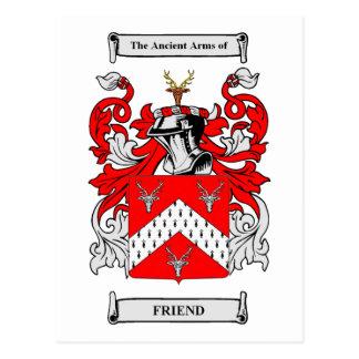 Escudos de armas del amigo postales