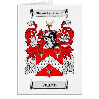 Escudos de armas del amigo tarjeta de felicitación