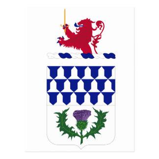 Escudos de armas del régimen de la artillería de postal