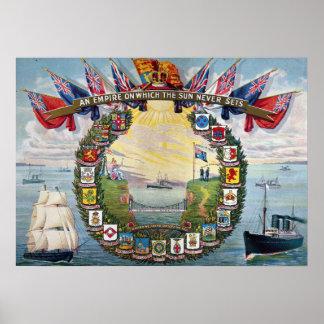 Escudos de colonias británicas póster
