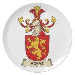 Escudos de la familia de Achaz Plato De Comida