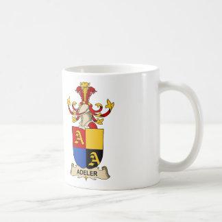 Escudos de la familia de Adeler Taza De Café