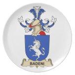 Escudos de la familia de Badeni Plato De Comida