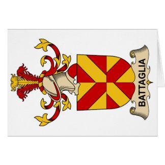Escudos de la familia de Battaglia Tarjeta De Felicitación