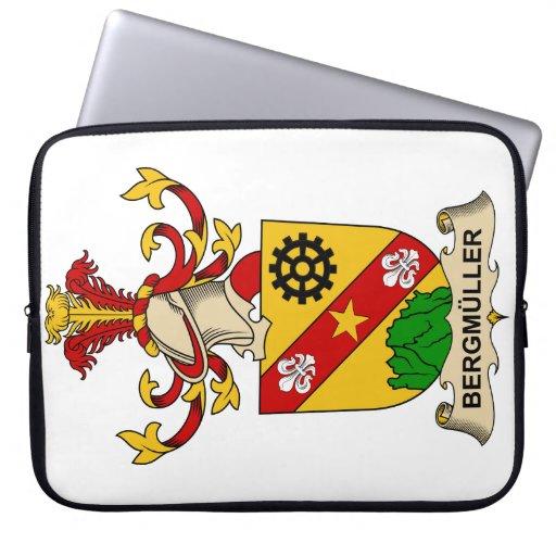 Escudos de la familia de Bergmüller Fundas Computadoras
