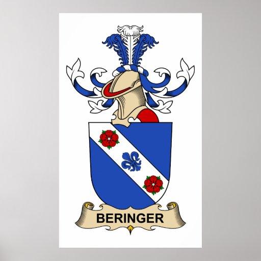Escudos de la familia de Beringer Póster