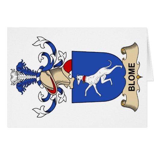 Escudos de la familia de Blome Felicitaciones