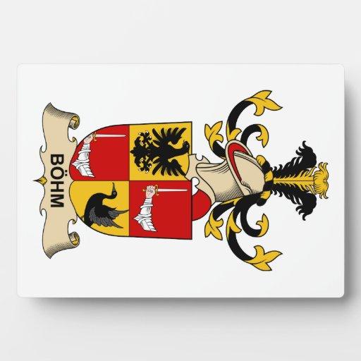 Escudos de la familia de Böhm Placas Para Mostrar