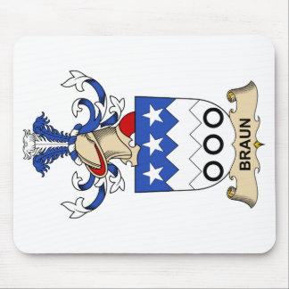 Escudos de la familia de Braun Alfombrillas De Ratón