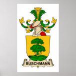 Escudos de la familia de Buschmann Poster