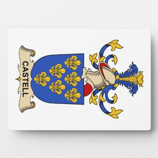 Escudos de la familia de Castell Placa De Plastico
