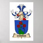 Escudos de la familia de Conrado Posters