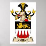 Escudos de la familia de Dersch Posters