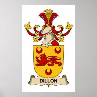 Escudos de la familia de Dillon Póster