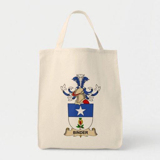 Escudos de la familia de la carpeta bolsa lienzo