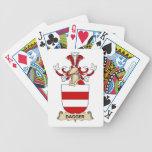 Escudos de la familia de la daga cartas de juego