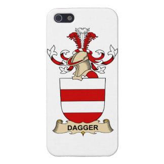 Escudos de la familia de la daga iPhone 5 protectores