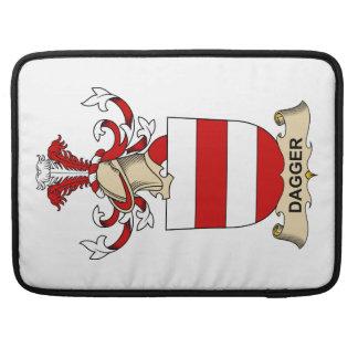 Escudos de la familia de la daga fundas para macbook pro