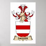 Escudos de la familia de la daga impresiones