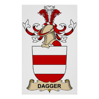 Escudos de la familia de la daga poster