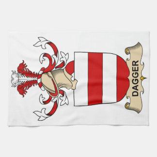 Escudos de la familia de la daga toallas de cocina