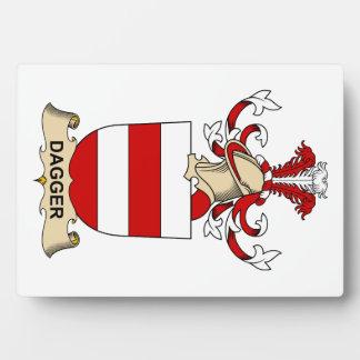 Escudos de la familia de la daga placas con foto
