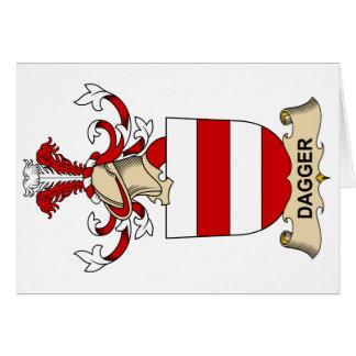 Escudos de la familia de la daga tarjetas
