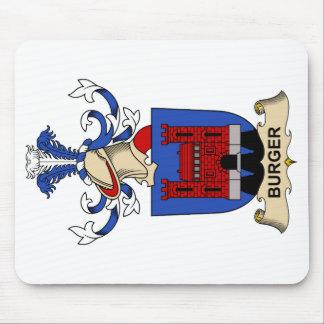 Escudos de la familia de la hamburguesa tapetes de ratón