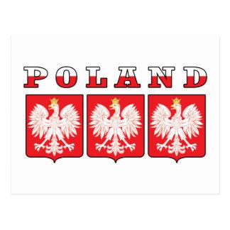 Escudos de Polonia Eagle Tarjeta Postal