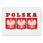Escudos de Polska Eagle Felicitacion