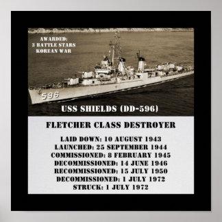 Escudos de USS (DD-596) Impresiones
