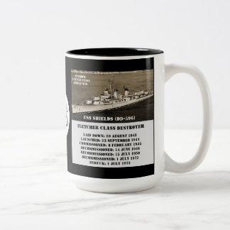 Escudos de USS DD-596 Tazas De Café