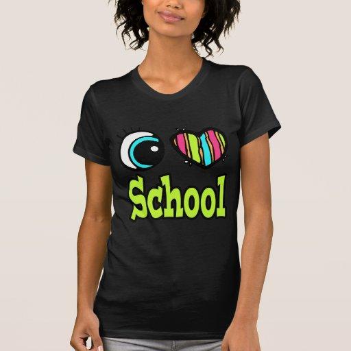 Escuela brillante del amor del corazón I del ojo Camisetas