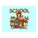 Escuela - camisetas y regalos de la jirafa postales