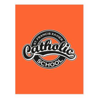 Escuela católica de St Francis Javier blanco y neg Postal