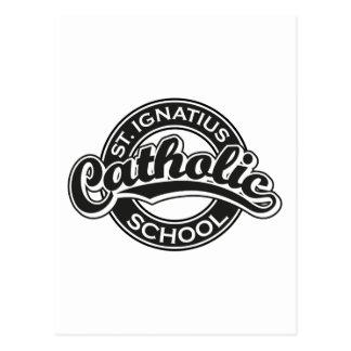 Escuela católica de St Ignatius blanco y negro Tarjetas Postales