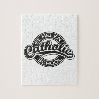 Escuela católica del St. Helen blanco y negro Puzzles