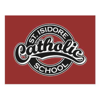 Escuela católica del St. Isidoro blanco y negro Tarjeta Postal