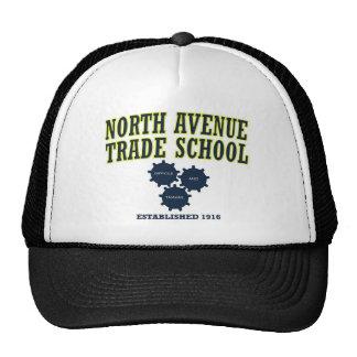 Escuela comercial de la avenida del norte - lema gorros bordados