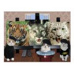 Escuela de arte del gatito postales