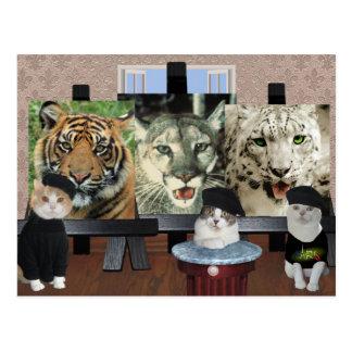 Escuela de arte del gatito tarjetas postales