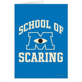 Escuela de asustar tarjeta de felicitación