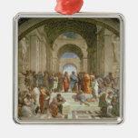 Escuela de Atenas, del della de la estrofa Ornamento Para Arbol De Navidad