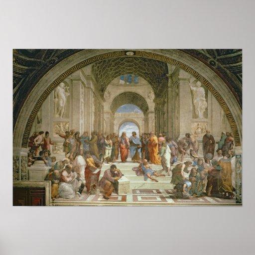 Escuela de Atenas, del della de la estrofa Posters