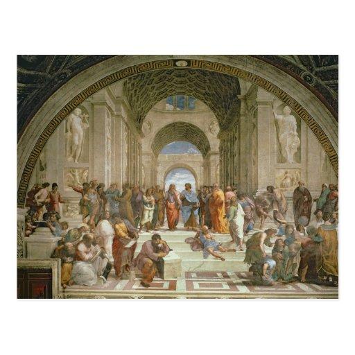 Escuela de Atenas, del della de la estrofa Postal