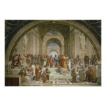 Escuela de Atenas, del della de la estrofa Póster