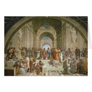 Escuela de Atenas, del della de la estrofa Tarjeta De Felicitación