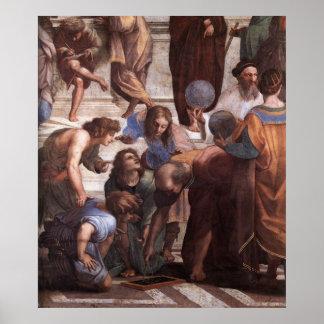 Escuela de Atenas (detalle - Euclid) Póster