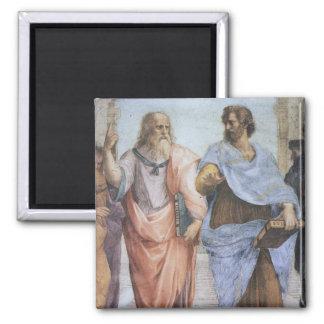 Escuela de Atenas (detalle - Platón y Aristóteles) Imán Cuadrado