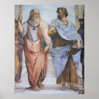 Escuela de Atenas (detalle - Platón y Aristóteles) Poster